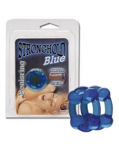 Dubults dzimumlocekļa gredzens, zils