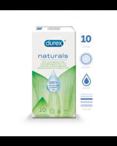 Durex Naturals PREZERVATĪVI 10 GAB.